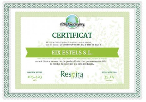 El Jou Nature Energy Certificate